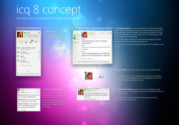 ICQ8 concept - a new way of IM by sibbl