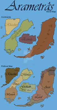 Arametras World Maps