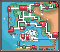 Bargeo Region Map and Gym Info by Dizzardy