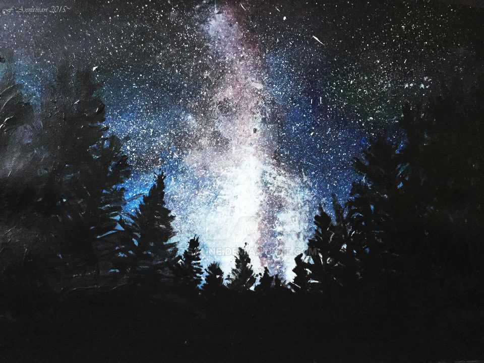 Universe acrylic painting by itsanne on DeviantArt