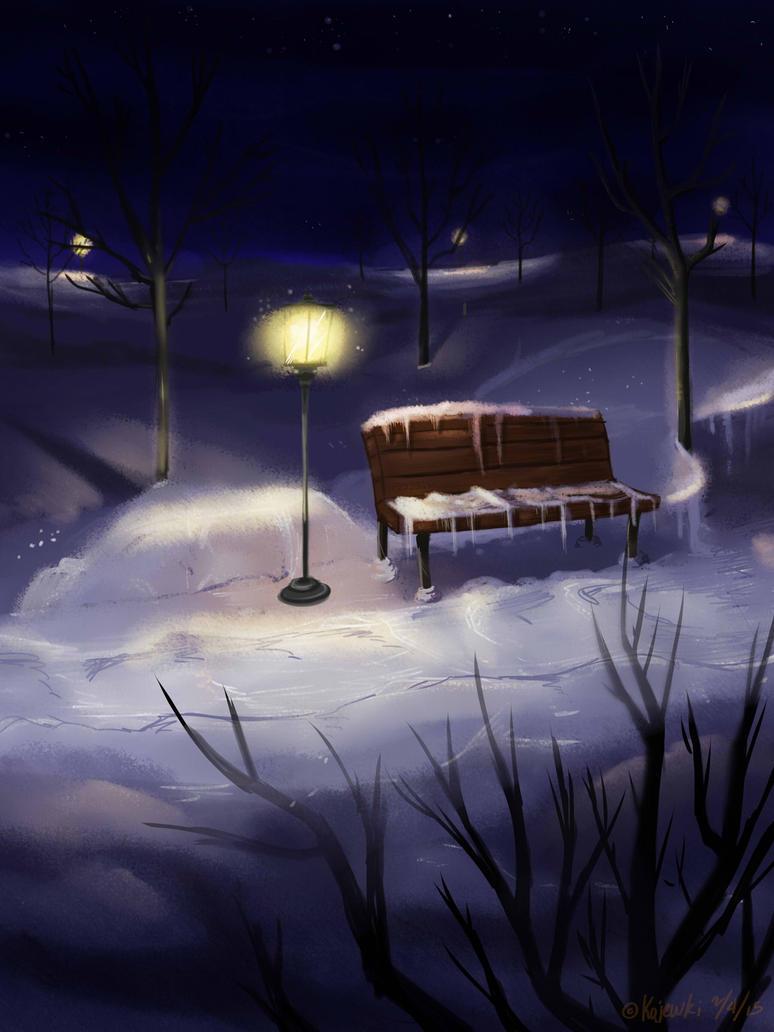 Midnight Bench by KoJewKi