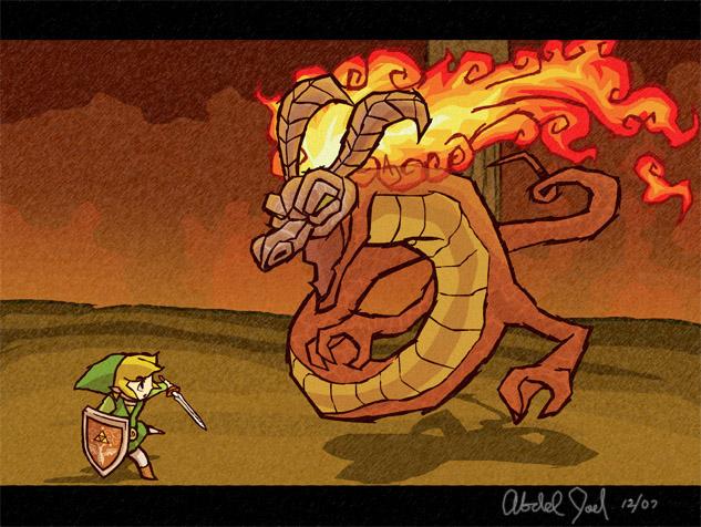 ww volvagia vs link by Mast3r-sword