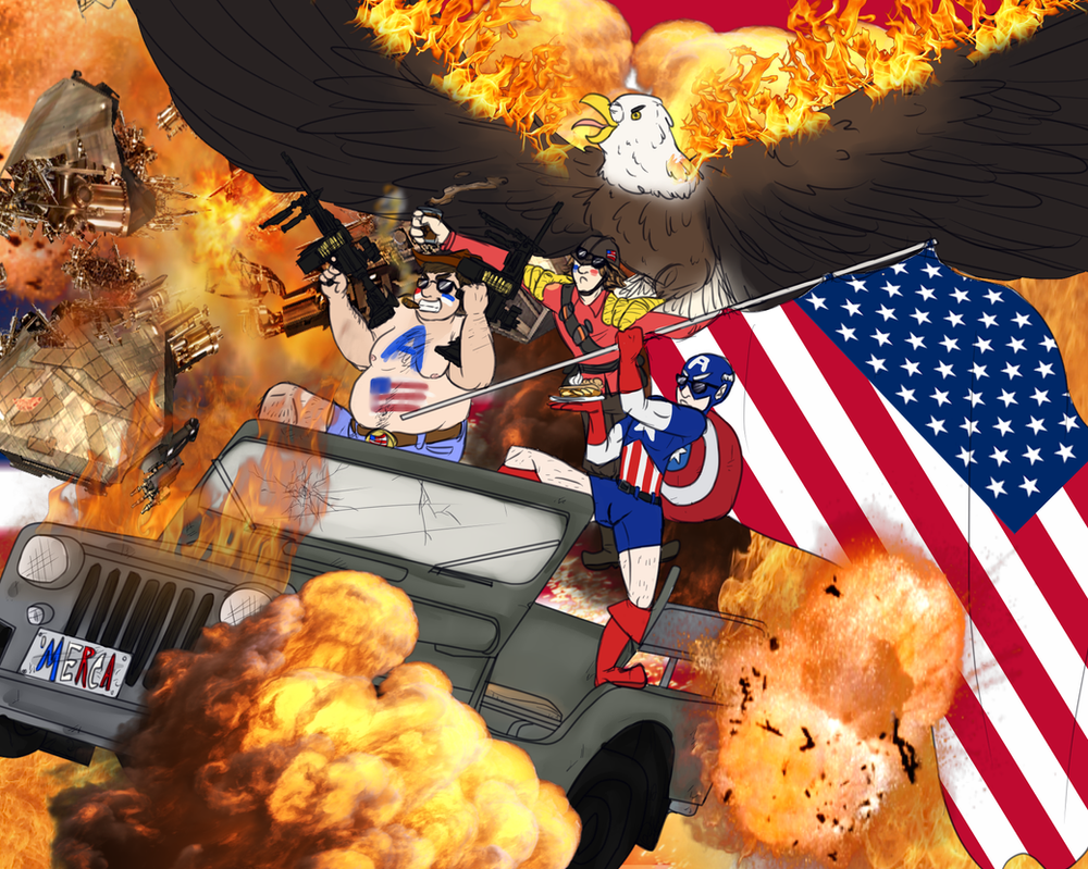 Merica! Fuck Ye! by Fowl-Prince