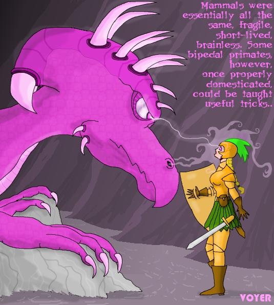 Dragonspell on female warrior