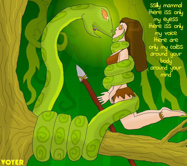 Jungle girl and Hypno-snake