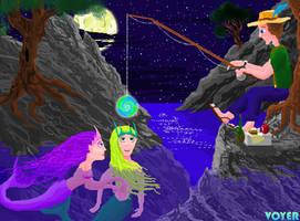 Mermaid Fishing by hypnovoyer