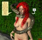 Hypno-Snake and Irish Lass by hypnovoyer