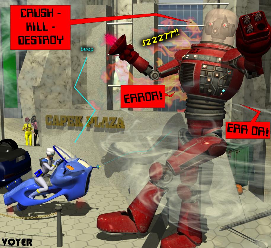 Valkyrie Squad: Killbot 023 takedown by hypnovoyer