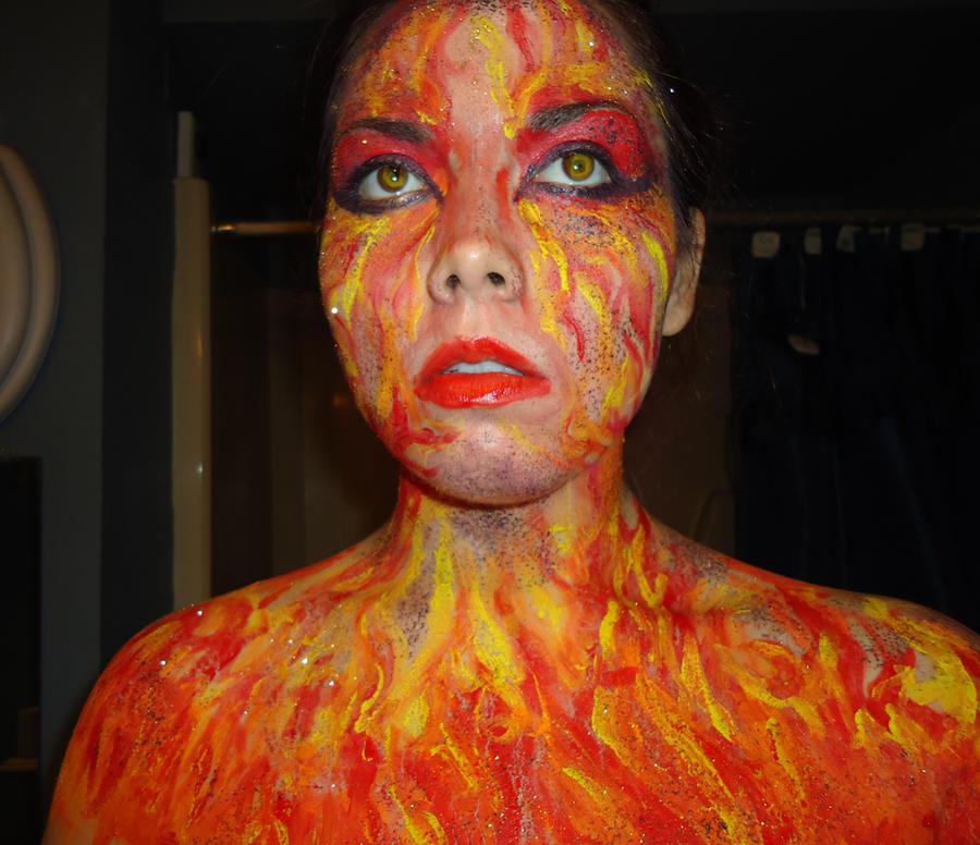 Orange Body Paint Fire Body Paint 2 by