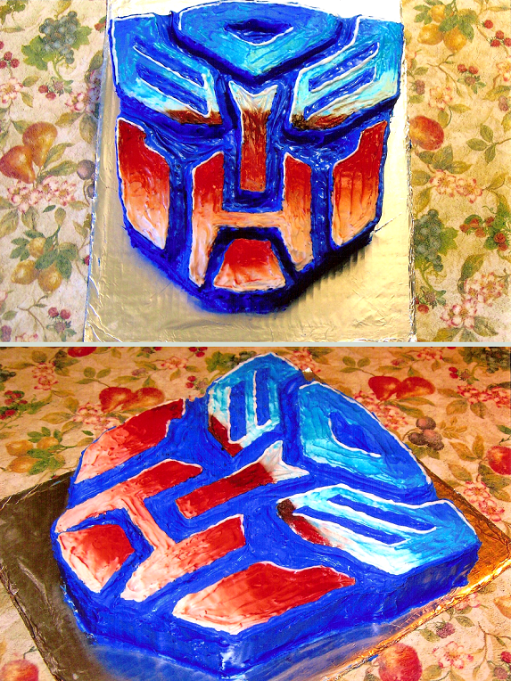 Transformers Cake by FoxxFireArt