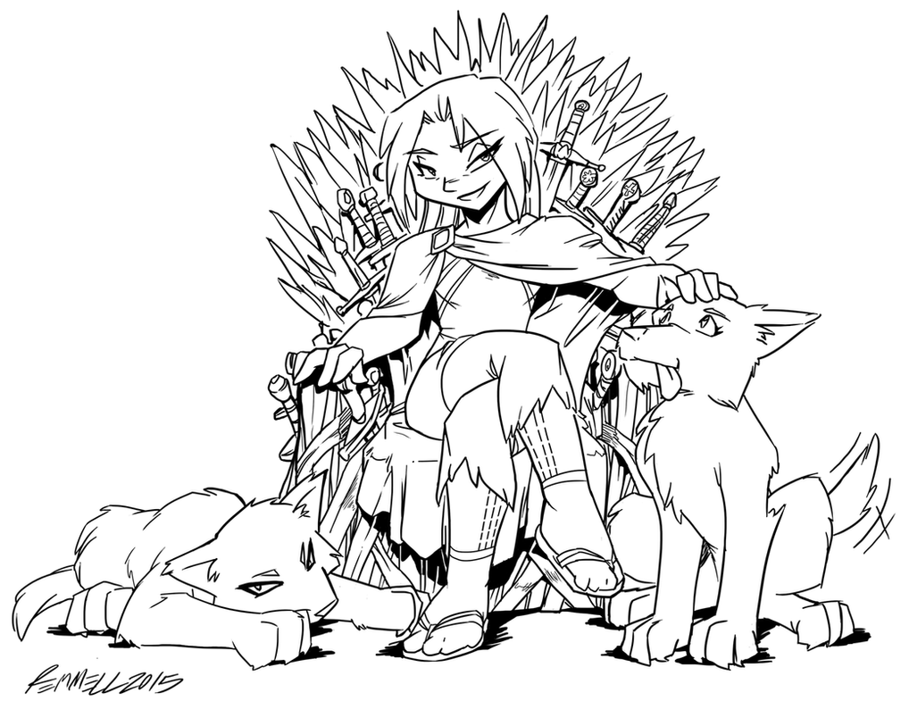Trisha Birthday 2015 - Mother of Wolves by FoxxFireArt