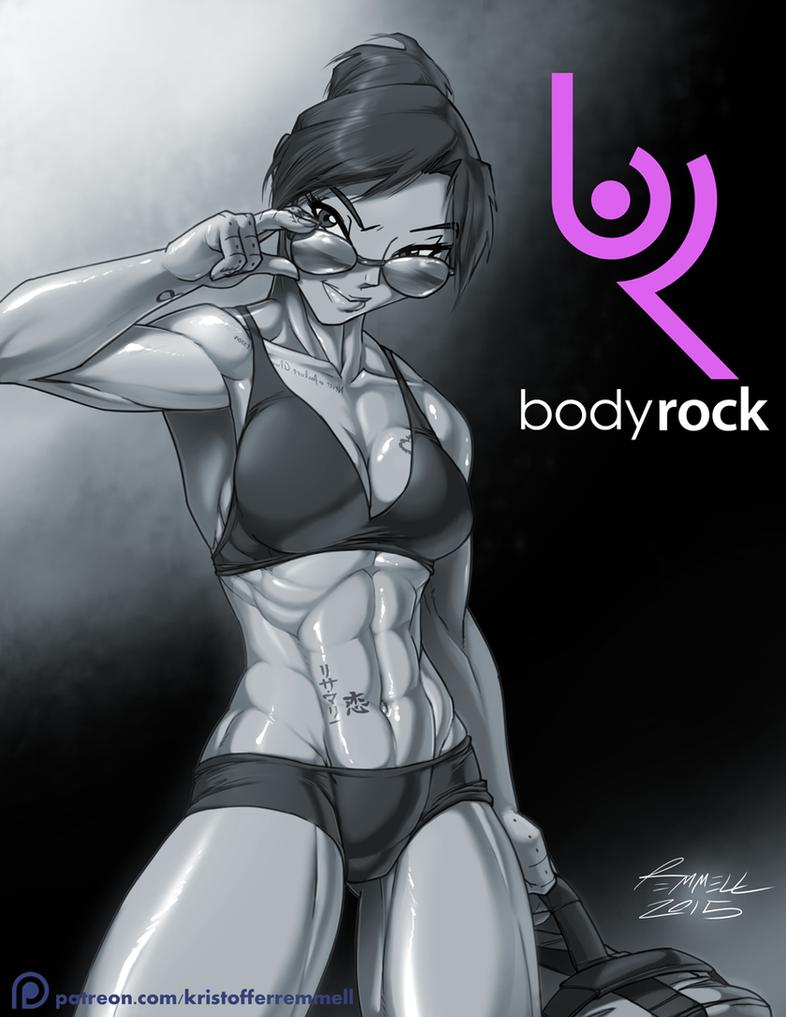 BodyRock's Lisa-Marie by FoxxFireArt