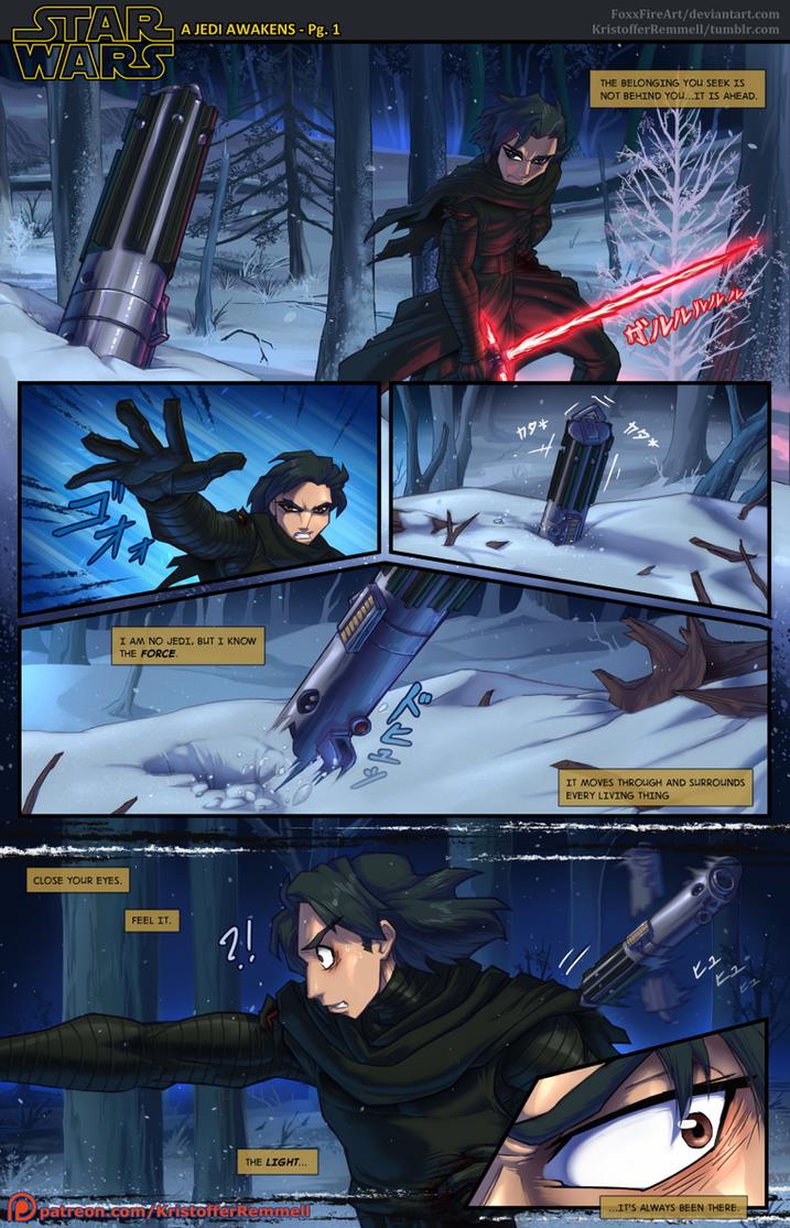 SW:TFA - A Jedi Awakens Pg. 1 by FoxxFireArt