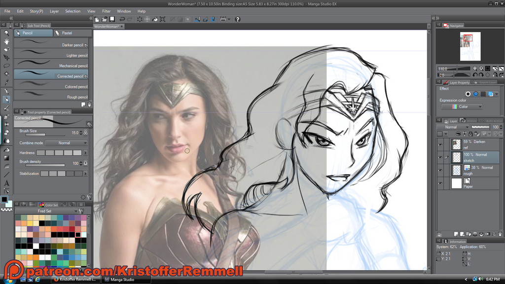 Wonder Woman - In Progress by FoxxFireArt