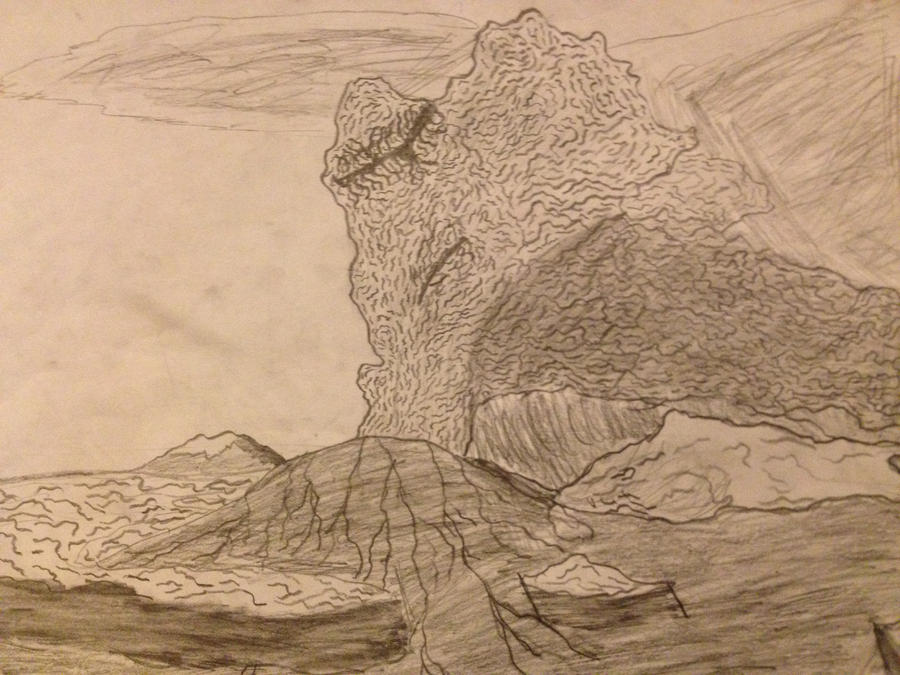 Mt Saint Helens in Full Eruption by arceus32