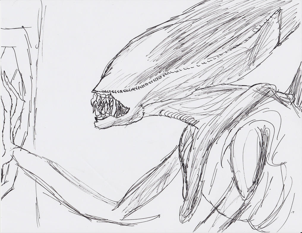 Alien Pen Sketch by arceus32