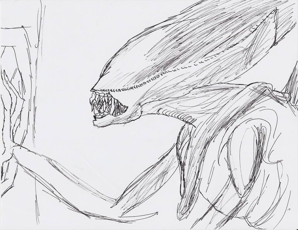 Alien Pen Sketch by arceus32
