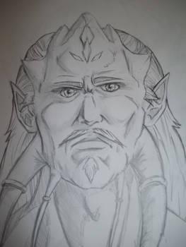 Male Draenei Portrait Practice