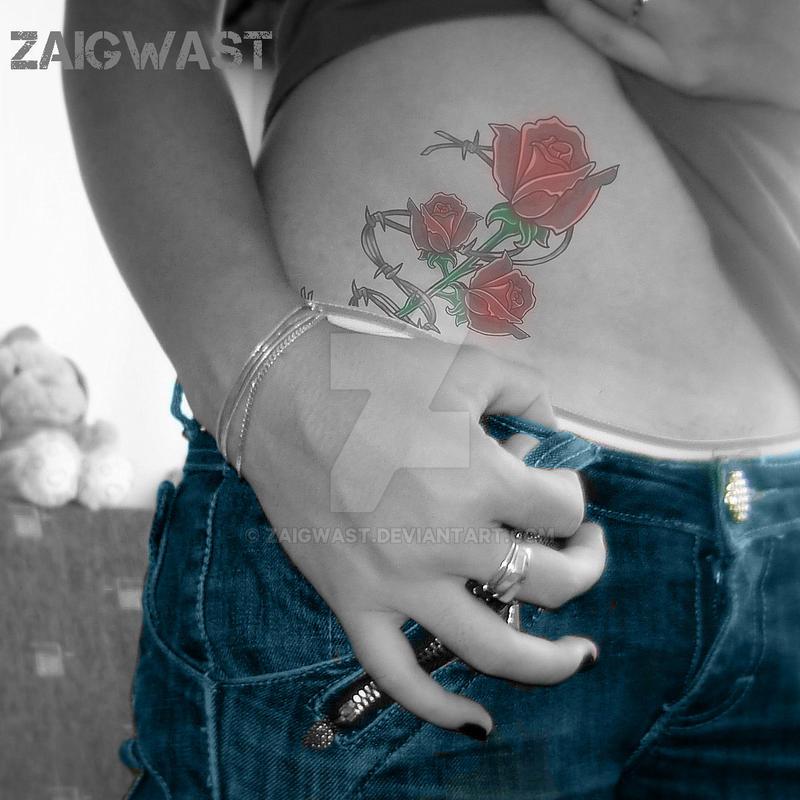 Rose Tattoo Color Tyna by Zaigwast