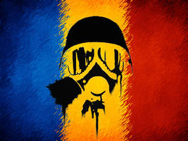 Romania Gas Mask Flag by Zaigwast