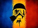 Romania Gas Mask Flag