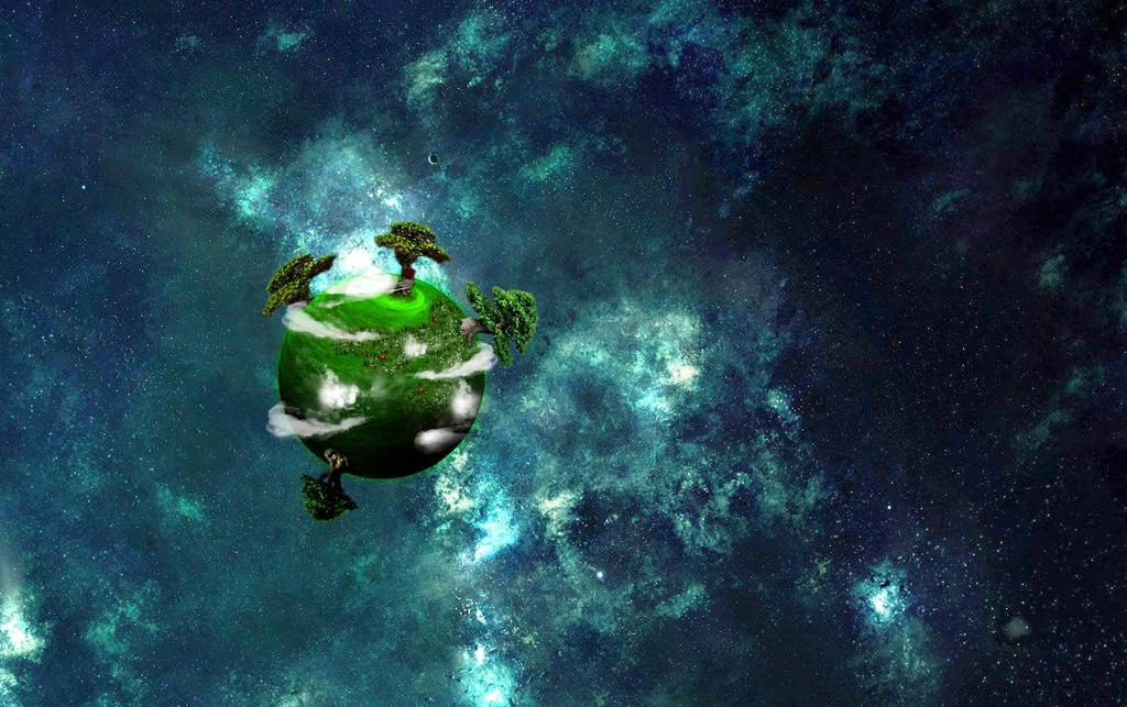 A small green planet by Zaigwast