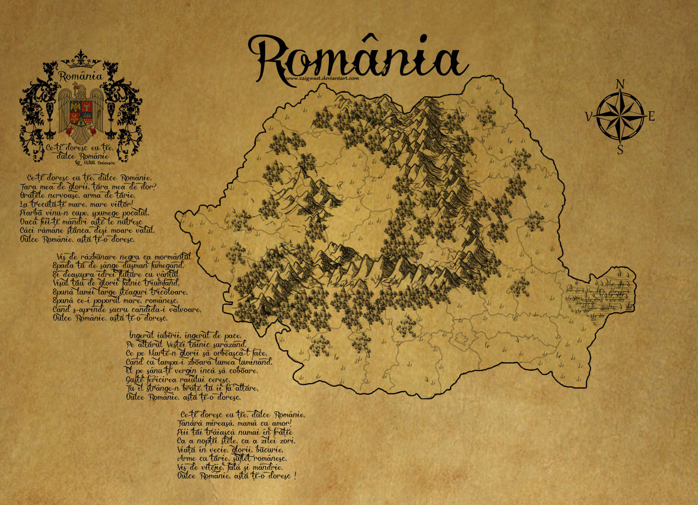 Romania ancient map by Zaigwast