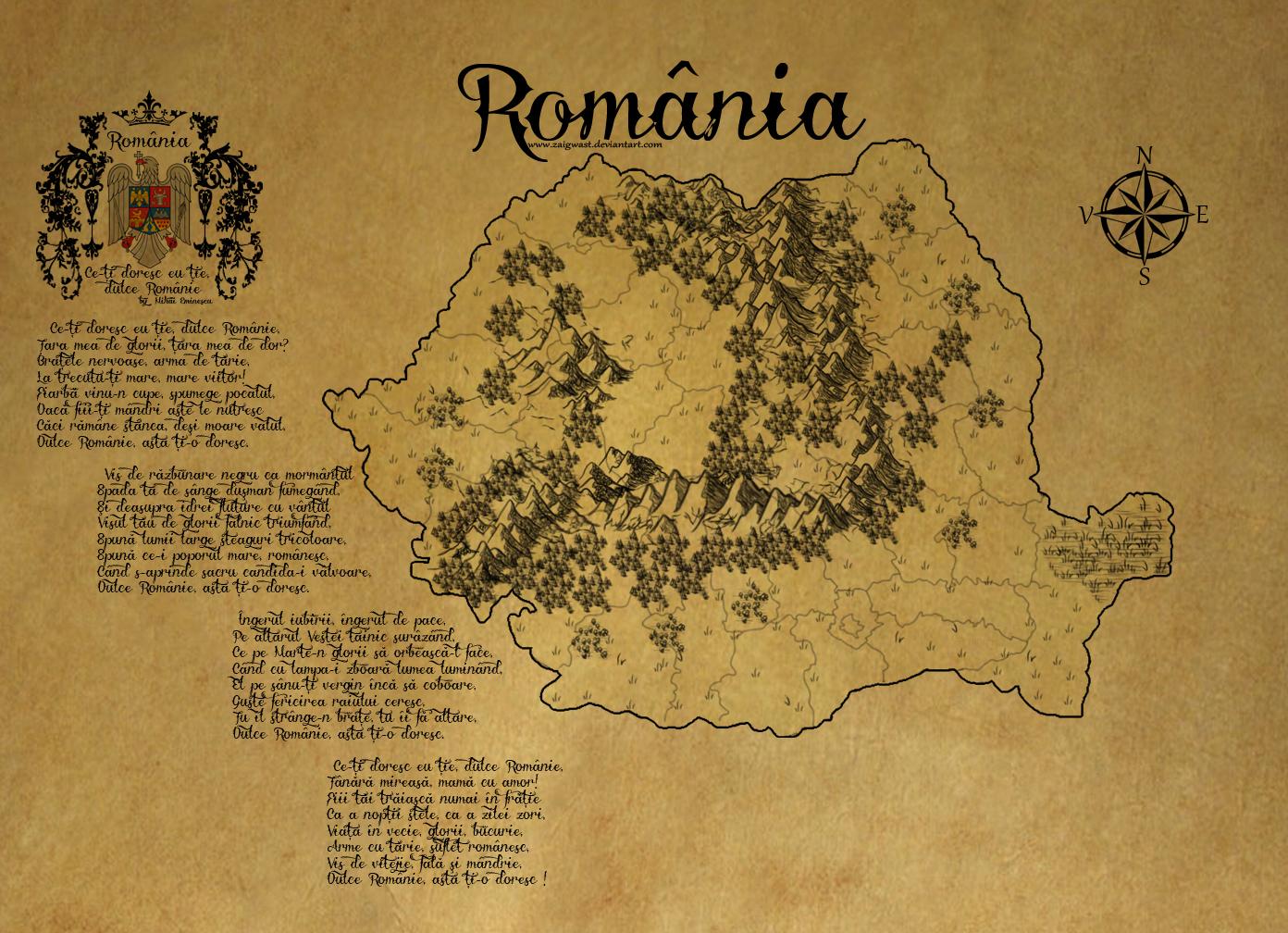 Romania ancient map by Zaigwast