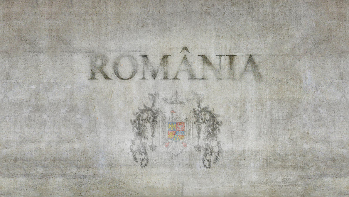 Romania on stone wall WALLPAPER by Zaigwast