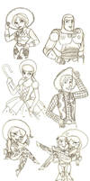 Toy Story Sketch Dump