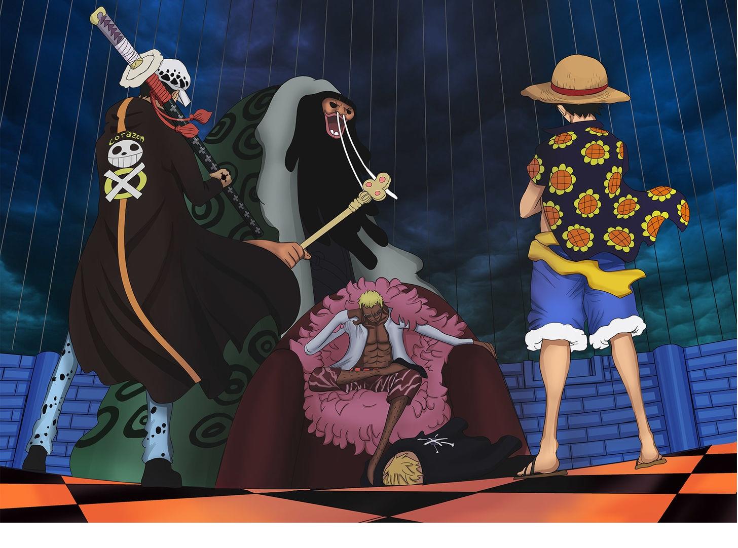Luffy Vs Doflamingo Wallpaper