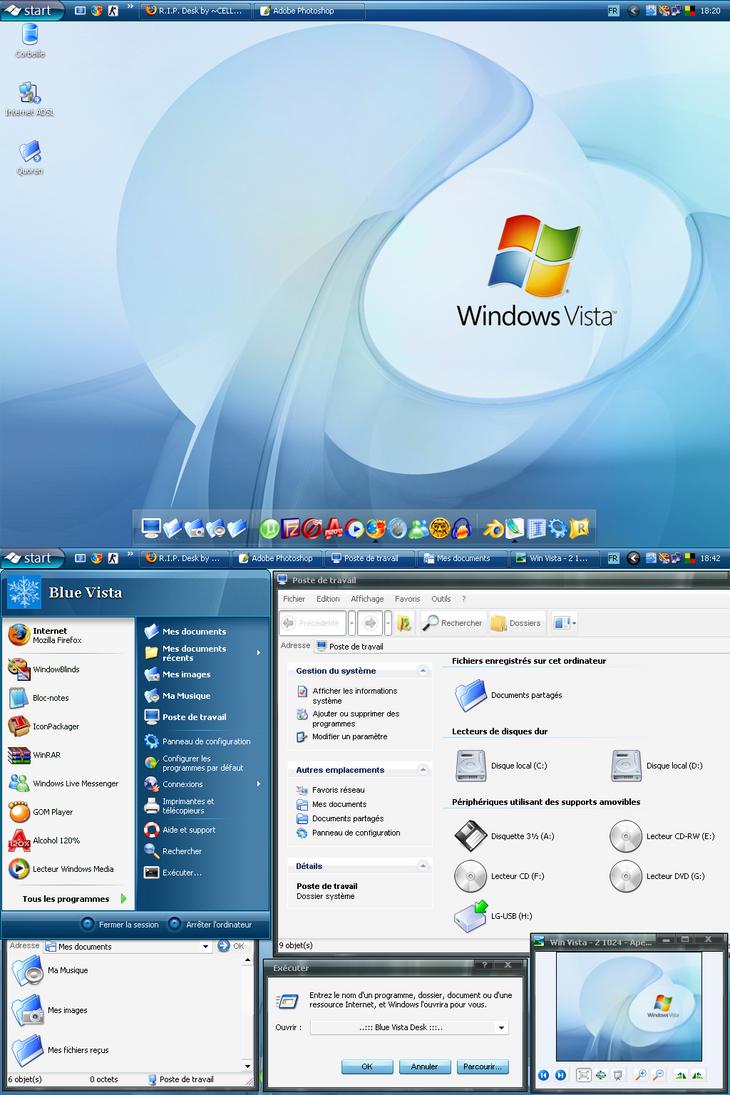 My Blue Vista Desk Theme by N3tM4n