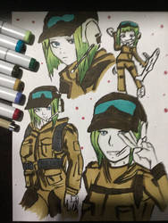 Ela Sketch Rainbow Six Siege by djakal12