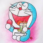 Doraemon by Colored Pencil