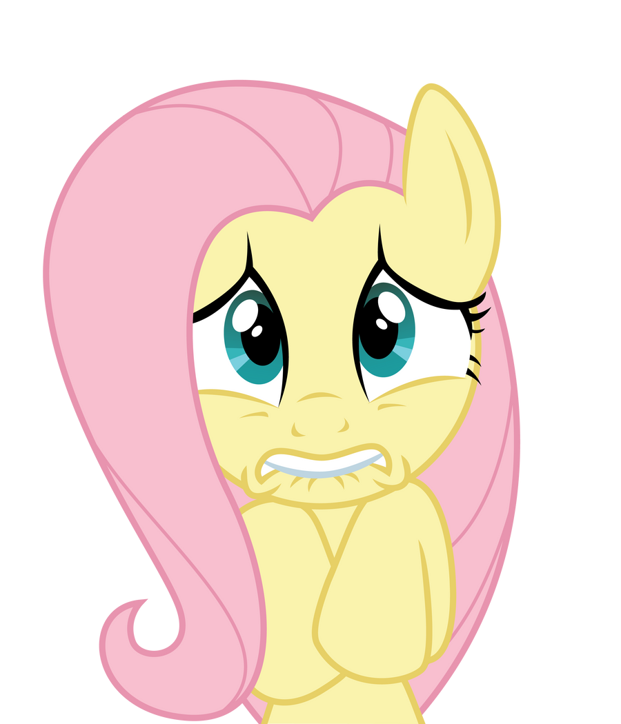 Scared Fluttershy by ErisGrim on DeviantArt