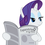 Rarity with Equestria Daily