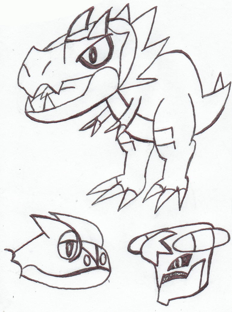 Tyrunt Frogadier and Mega Garchomp Lineart by ...