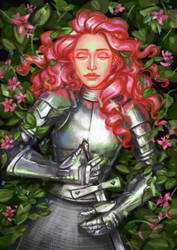 Knight of flowers by Hyanide