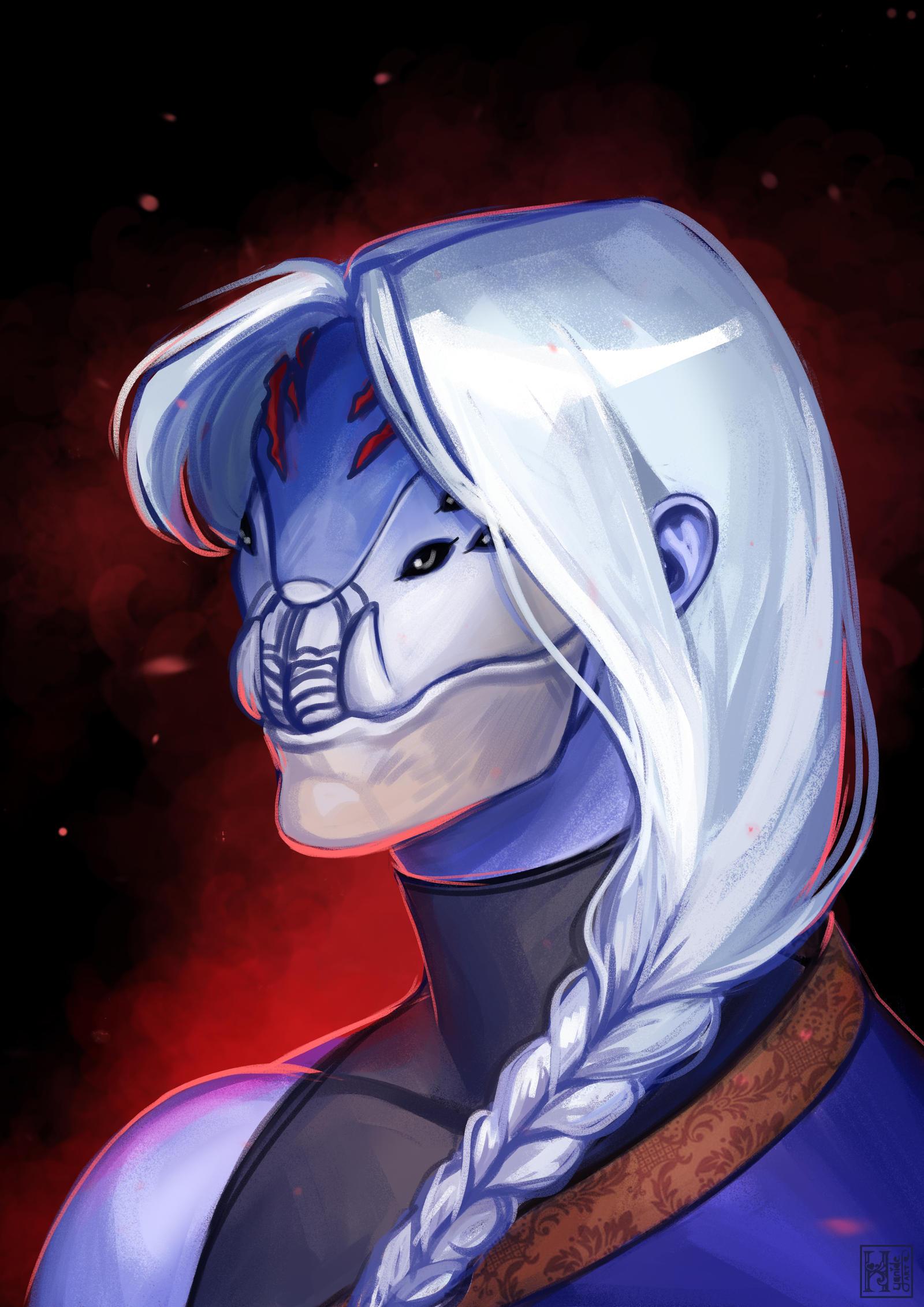 Masked Aasimar - Commission