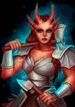 Dragonborn Lady - Commission