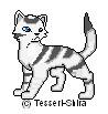 Barleypaw pixel cat by Pearlfur