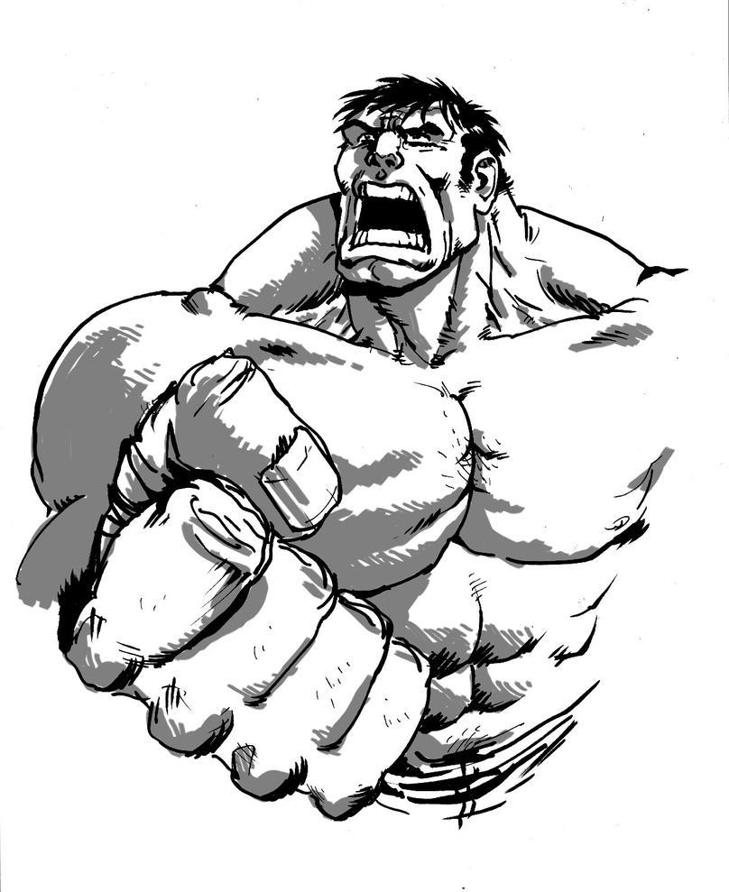 Hulk Face Line Drawing : Hulk by toze barnabe on deviantart