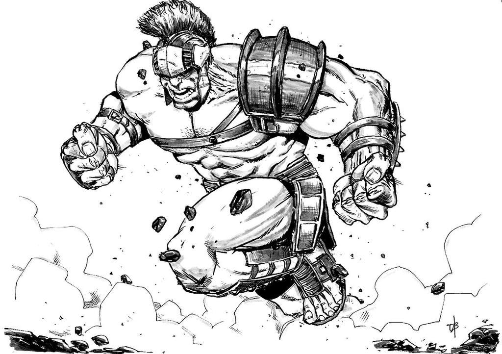Gladiator Hulk by toze-barnabe