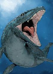 Mosasaurus illustration