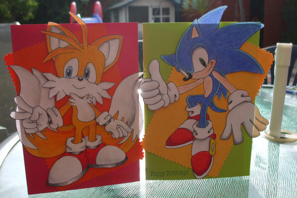 Sonic And Tails Birthday Cards By Beth2k9x On Deviantart