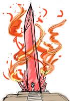 Fire Shrine - Sketch by kabocha