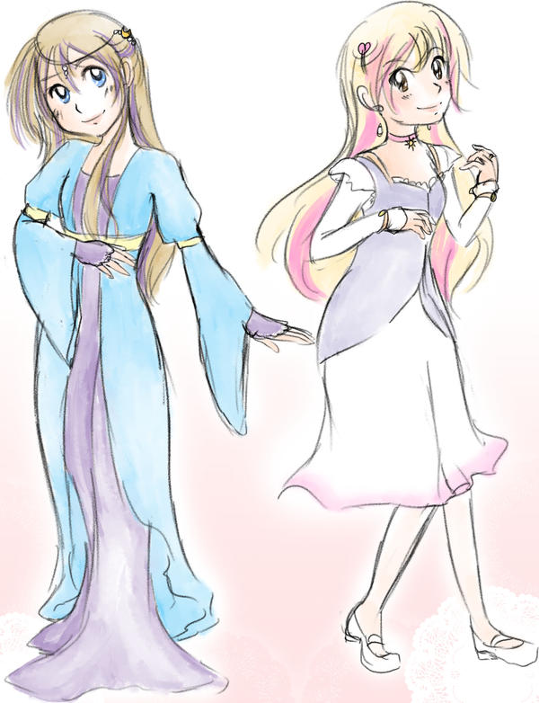 CC - Princesses Moonbeam and Sunbeam by kabocha