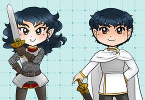 Kei and Keiji - Knights by kabocha