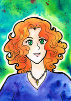 Brusho test - Doreen O'Clairy by kabocha