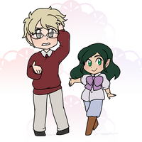 Chibis - Aster and Fox by kabocha